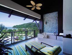 Ocean Wing Balcony at Shangri-La's Rasa Ria Resort, Kota Kinabalu