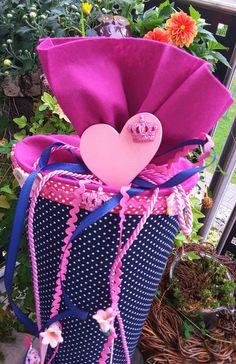 Schultüten - Pinke Vögelchen - Schultüte - ein Designerstück von XBergDesign2 bei DaWanda