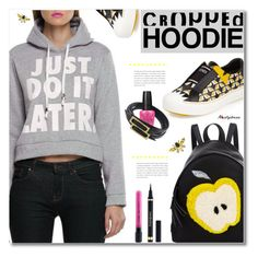 """""""Cute Trend: Cropped Hoodies"""" by svijetlana ❤ liked on Polyvore featuring Fendi, Yves Saint Laurent, OPI, polyvoreeditorial, CroppedHoodie and nastydress"""