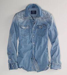 AE Denim Western Shirt