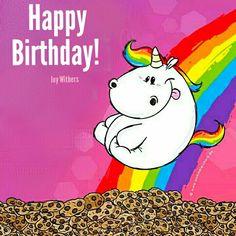 Immer positiv denken und immer mit einer im vollen # Glück springen . Unicorn Diy, Unicorn Names, Unicorn Quotes, Real Unicorn, Rainbow Unicorn, Birthday Greetings, Birthday Wishes, Unicorn Pictures, Birthday Blessings