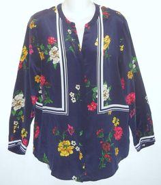 e4b4b57c8ae2ce Joie Blue Aisa Floral Medium Blouse Size 10 (M) 72% off retail