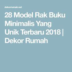 28 Model Rak Buku Minimalis Yang Unik Terbaru 2018 | Dekor Rumah