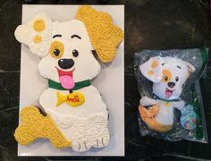 The Bubble Guppy Puppy pull apart cupcake cake with the stuffed animal version.