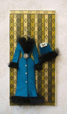 Imogene Personalized Faux Fur Coat Card / DL Size / by BSylvar, $21.00. Dress card