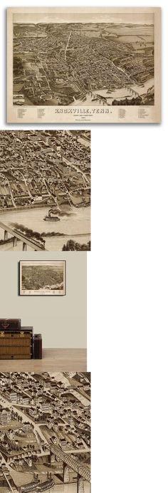 Bird/'s Eye View 1881 Ilion New York Vintage City Map 24x32