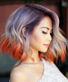 Perfect Dyed Hair Color Ideas for 2020 for Girls and Women That Will Amaze Everyone Dyed Hair Purple, Dyed Hair Pastel, Burgundy Hair, Updos For Medium Length Hair, Medium Hair Styles, Natural Hair Styles, Long Hair Styles, Ice Blonde Hair, Beautiful Hair Color
