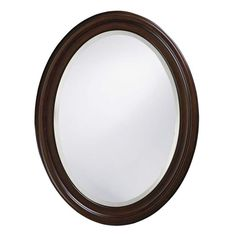 "View the Howard Elliott 40110 George 33"" x 25"" Chocolate Brown Mirror at Build.com."