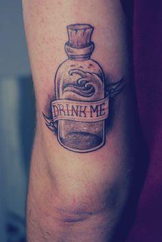 alice in wonderland eat me drink me tattoos - Sök på Google