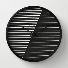 Black vs. White Wall Clock by Metron | Society6
