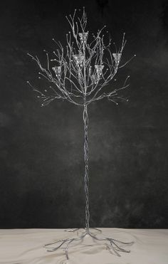 Candle Trees 5 foot Silver Crystal Stem Tree (2 trees) $119