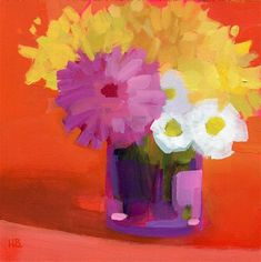 Heather Bennett Gallery of Original Fine Art Star Painting, Gerber Daisies, Orange Flowers, Fine Art Gallery, Pink Yellow, Daisy, Original Paintings, Art Pieces, The Originals
