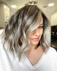 Brown And Silver Hair, Grey Brown Hair, Silver Blonde Hair, Grey Hair At 40, Platinum Silver Hair Color, Black Hair, Dark Brown, Light Hair, Light Brown Hair