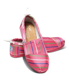 Look what I found on Pink Stripe Vegan Biminis - Youth Comfy Shoes, Sophisticated Style, Pink Stripes, Toms Sale, Youth, Pairs, Pure Products, Vegan, My Style