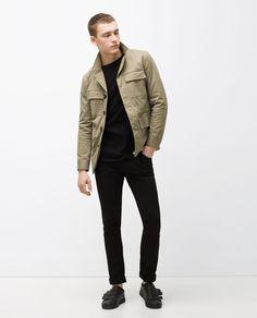 Image 1 of COTTON SAFARI JACKET from Zara