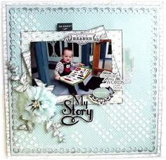 Layout created for The Scrapbook Store, using Carta Bella 'So Noted' paper collection.  Silhouette Cameo used for border, title and leaves - also available through TSS.