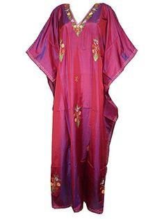 Muummuu Kaftan Maroon Crewel Embroidered Silk Boho Dress Hippy Gypsy Kaftan Mogul Interior http://www.amazon.com/dp/B00PRUCF38/ref=cm_sw_r_pi_dp_--YAub0AJ5XS1