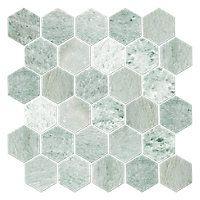 The Tile Shop Biltmore Polished Mosaic, the tile we are using for the shower floor. Hex Tile, Hexagon Tiles, Marble Mosaic, Mosaic Tiles, Marble Bath, Hexagon Pattern, Backsplash Tile, Shower Floor Tile, Bathroom Floor Tiles