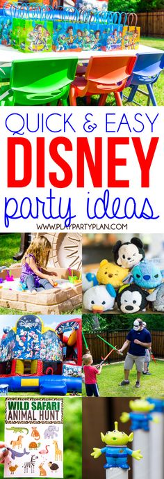 This awesome Disney party has tons of great ideas inspired by Disney World attractions and even a fully Epcot inspired food table! With DIY games, favors, even simple invitations, this is perfect for any little princess, boy, or even a grown up who loves Disney! Such a fun party theme! Perfect for #DisneyKids! Ad