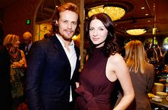 "lena-headey: "" "" Sam Heughan and Caitriona Balfe attend the BAFTA Los Angeles Tea Party at The Four Seasons Hotel on January 10, 2015. "" """