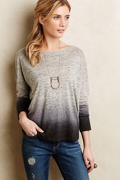 Heathered Dip-Dye Pullover by MiH #anthroregistry