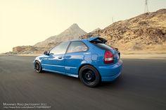 Laguna Seca blue Honda Civic EK4 hatch via Mohammed Hijazi on Flickr