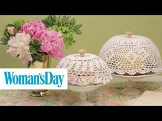 How to Make a DIY Cake Dome from a Crocheted Doily