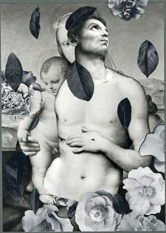 "Doug Stapleton, La Familia Camillia, collage on paper, 9 x 6 1/2"", 2013"