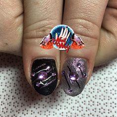 Cosmic Thumb Nails! Nail Wolf, Nail Art, Nail Art Addict, Gel Nails, Gel Manicure, Gel Nail Art, Manicure, Nails, Nail Designs, Nail Art Club