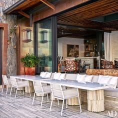 #dreamhouseoftheday Outdoor dining terrace at a St.John, U.S. Virgin Islands home via Architectural Digest