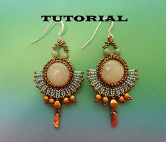*P TUTORIAL for Romantic beadwoven earrings. $5.50, via Etsy.