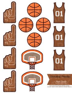 basketball label printables