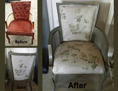 I called this my 'Ugly' chair, little paint and new upholstry and it looks a lot better.