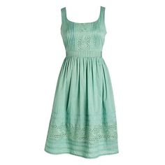 The Vintage Eyelet Dress ($35, on sale) at Delia's looks like it was made to be worn on a late August day to an End of Summer Fair or Festival or even just on …
