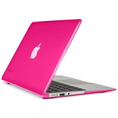 "Speck MacBook Air 13"" SeeThru Cover (€28) ❤ liked on Polyvore featuring accessories, tech accessories and hot lips pink"