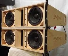 Subwoofer Box Design, Speaker Box Design, Diy Speakers, Built In Speakers, Speaker Plans, Dj Gear, Dj Equipment, Loudspeaker, Audio System
