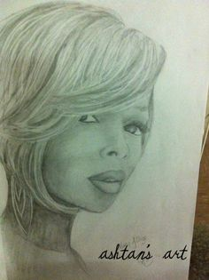 Mary J Blige drawing