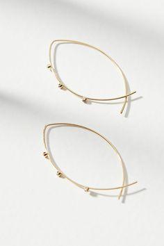 Slide View: 1: Lindy Hoop Earrings