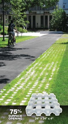 Hastings Architectural - Checker Block. Paving stones that allow 75% of surface area to be grass