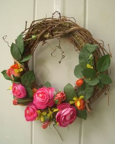 Spring wreath for our front door