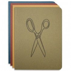 Rowan Morrison Found Paper Memo Book in four color-ways: Olive, Gold Ochre, Cabernet and Nightshift Blue