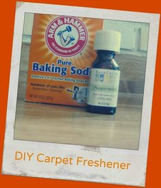 Mix baking soda and a little essential oil to de-stank your rug. | 29 Hacks For The Frugal Clean Freak