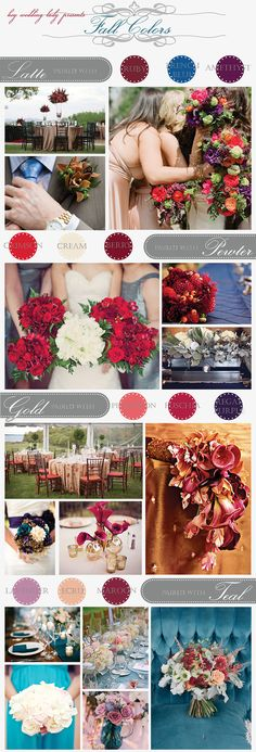 Harvest Hues - unexpected color combinations for autumn weddings!
