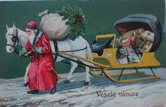 Weihnachten, Weihnachtsmann, Spielzeug, Schlitten  1905 ♥ (10477)