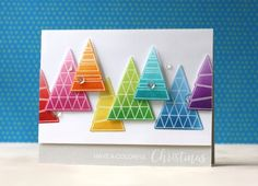 Laura Bassen is on the Simon Says Stamp blog today with a super bright and fun Christmas card tutorial!