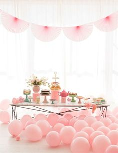 Pretty Pastel Tea Party idea for bridal shower - bridal shower idea - bachelorette party idea {Courtesy of Oh Happy Day}