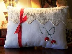 Cherry pillow (from Cherry Hill Cottage)