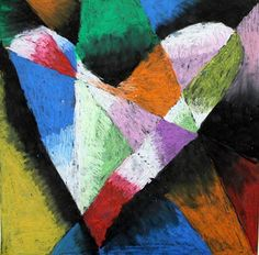 Tints and Shades Jim Dine Hearts - Artsonia Lesson Plan