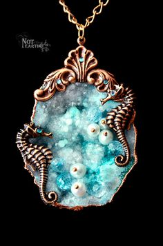Ocean Series Wondrous Findings Genuine Agate and by NoteJewelry, $29.00