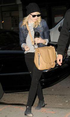 Emma Stone Adds A Grunge Twist With Her Beanie, 2013